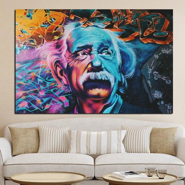 HD Impression Abstraite Albert Einstein Peinture L huile sur Toile Photo moderne Pop Art Giclee Affiche.jpg 640x640 Résultat Supérieur 1 Élégant Marque Canape Design Und Tableau toile Peinture Moderne Pour Salon De Jardin Photos 2017 Kdj5