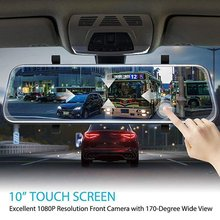 Full-Screen Lcd Rearview Mirror Front And Rear Car Recorder Reverse Parking System