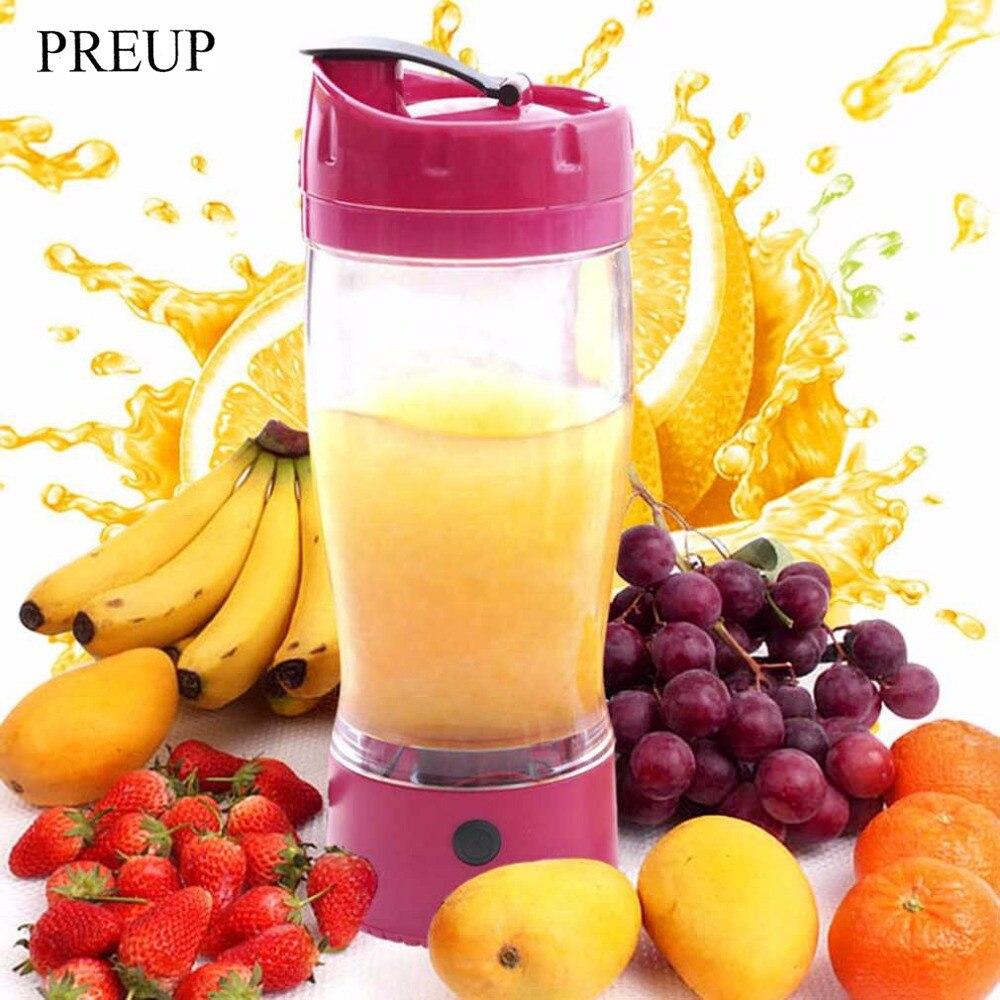 PREUP 650ML Small Electric Automatic Self Stirring Mug Portable Vegetable Fruit Juicer Blender Self Stirring Mug