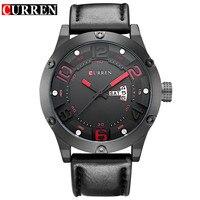 Curren New Fashion Casual Quartz Watch Men Top Brand Luxury Leather Strap Analog Sports Military Wrist