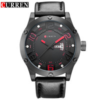 Curren New Fashion Casual Quartz Watch Men Top Brand Luxury Leather Strap Analog Sports Military Wrist