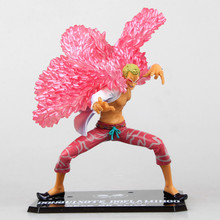 Anime One Piece 19 CM Shichibukai Donquixote Doflamingo Bataille Ver. PVC Action Figure Collection Brinquedos Modèle Jouet