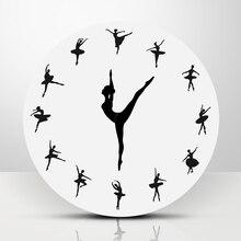 Ballerina Record Wall Clock Ballet Dancing Wall Clock Dancer Home Decor Xmas Gift Hot Sale стоимость