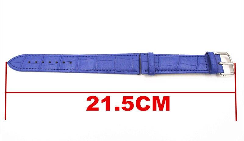 1 STÜCKE 19 MM Hohe qualität echtes leder uhrenarmband frau mann - Uhrenzubehör - Foto 2