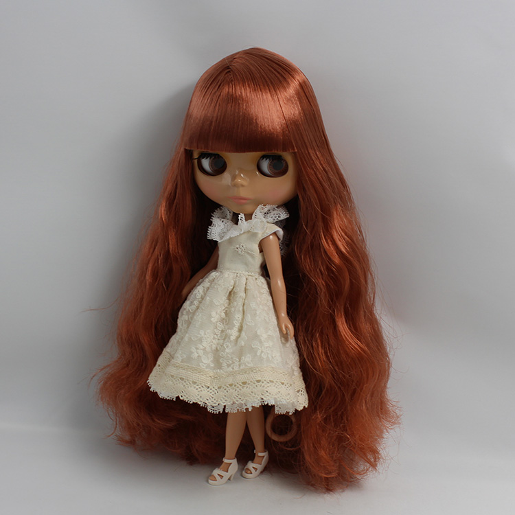 Nude female bjd 1/6 doll black skin doll Long red copper colour bangs doll to change DIY 12 inch dolls for girls 22mm mounting diameter metal usb2 0 female a change to female a black surface