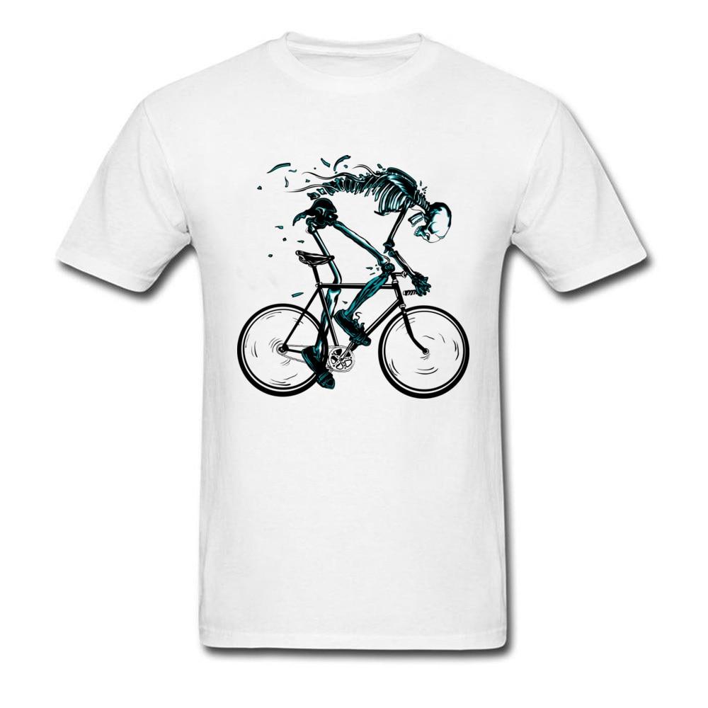 Cycle T Shirt Men 2018 Cool Design Male Skeleton Skull Cotton Top T