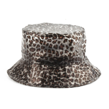 Panama Bucket Hat Men Waterproof Leopard Print Cap Hip Hop Women Sun Transparent Hats Street bob chapeau Fishing