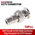 10 Шт. ШТ CCTV Bnc разъем для RCA Женский Угля Преобразование Разъем BNC Разъем