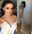 Champagne do querido Strapless Chiffon alta baixa vestido Prom curto frente tempo de volta com frisada Lace Applique