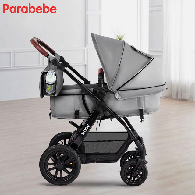 Luxury Brand Baby Stroller 3 In 1 Top Quality Big Wheels Pram With