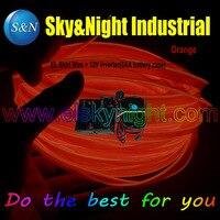 2017 Hot Item Orange 10M EL Wire/EL Welt Wire/EL Skirt Wire With 8AA Inverter +Free Shipping