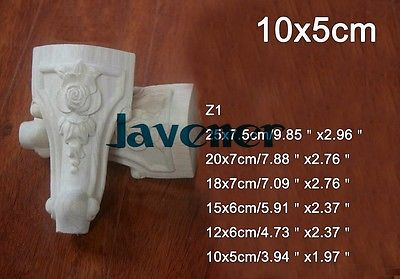 Z1 -10x5cm Wood Carved Onlay Applique Carpenter Decal Wood Working Carpenter Table Leg