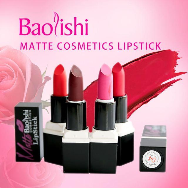 Couleur Nouvelle À 6 Lèvres Mat Rouge 2017 Baolishi Arrivée 2ED9WHI