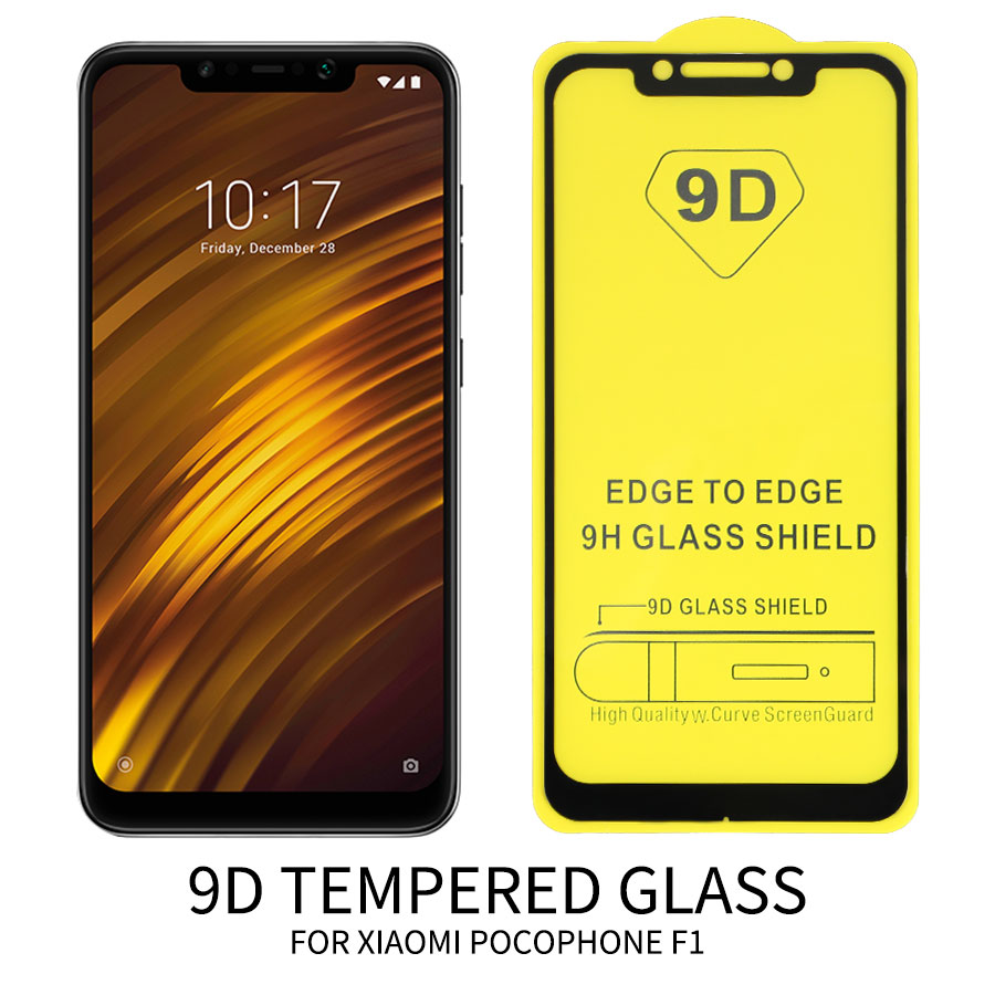 10pcs/lot 9D Full Glue Cover Tempered Glass for <font><b>XiaoMi</b></font> 8 SE A2 Lite Pocophone F1 Max 3 Redmi Note 7 6 Pro <font><b>Screen</b></font> <font><b>Protector</b></font> Film image