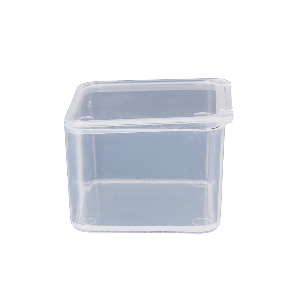 Round Transparent Plastic Storage Container Crafts Beads Jewelry Case Organizer