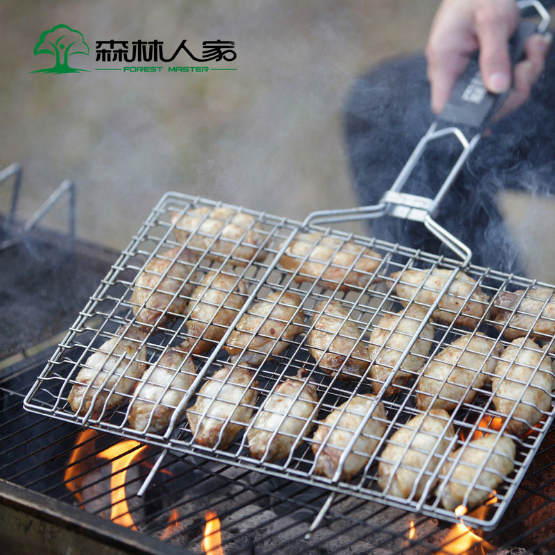 Barbecue Grill Part Portable Stainless Steel Grill Net Good Quality BBQ Household Grill Splint Net For Outdoor Travel Net portable barbecue grill with heart outdoor shape stainless steel grill folding bbq grill firewood stove outdoors household tool