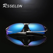 RSSELDN Men Car Drivers Sun glasses Night Vision Polarizer Anti-glare glasses Polarized Driving Sun glasses Alloy Frame Design
