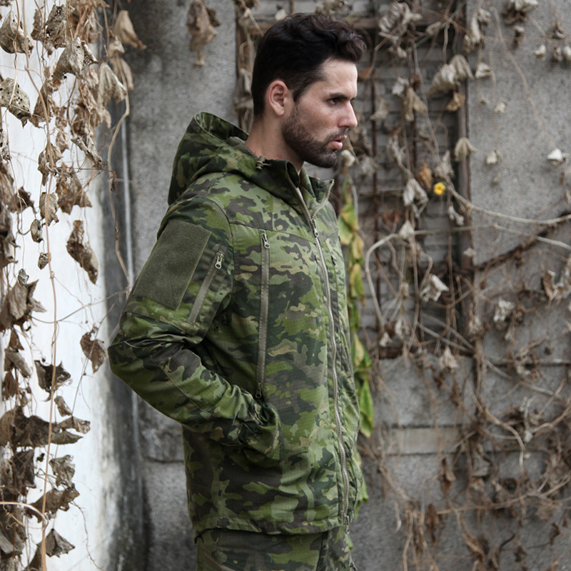 Tactical Multicam Tropic Camo Hunting Jacket MTP Ripstop Field Hunting Jakcet MTP for Outdoor Hunting Jacket with Hoody