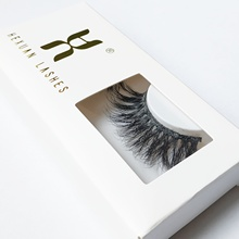 HEXUAN 5D Mink 25mm lashes with Custom Packaging Boxes super long cruelty free mink hair eyelashes