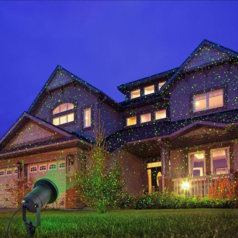 IP65 Xmas Outdoor Waterproof Moving Laser Projector Stage Grass Light Garden Party Lamp