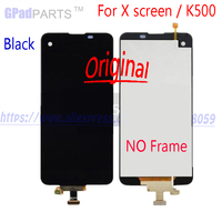 4.93inch Original For LG X screen K500 500H LCD Display + touch screen digitizer with Frame Assembly Replacement