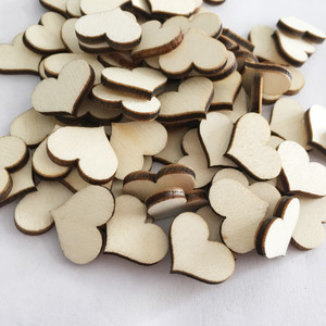 100pcs/lot Love Heart Shape Wooden Craft for Wedding Table Scatter Decor DIY Birthday Party Supplies Decoration 62558