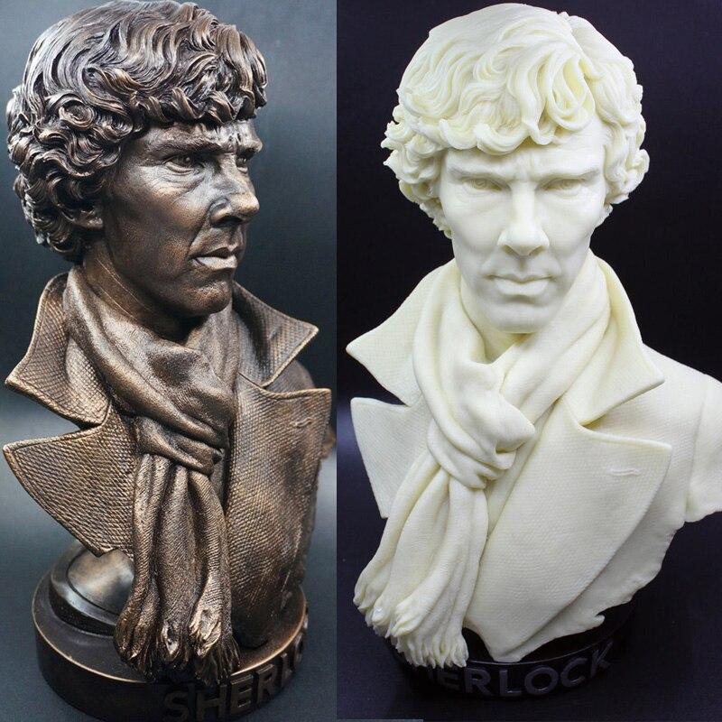 High Quality <font><b>Sherlock</b></font> <font><b>Holmes</b></font> Bust Resin Statue <font><b>Action</b></font> <font><b>Figure</b></font> <font><b>Sherlock</b></font> <font><b>Holmes</b></font> Doll Resin <font><b>Figure</b></font> Toys