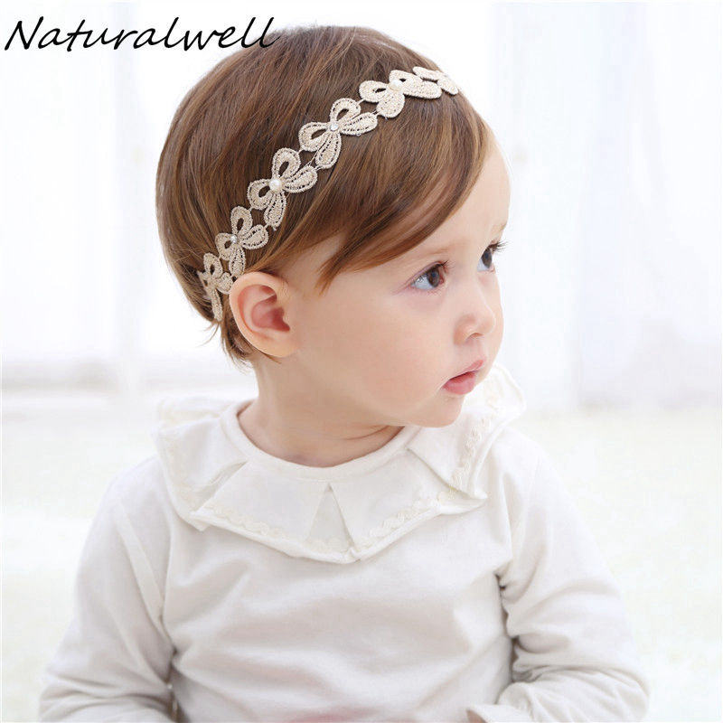 Naturalwell Baby Girl Crown Headband Vintage Retro Golden Headbands Wedding Birthday Gift Infant Hairband Princess Crown HB049