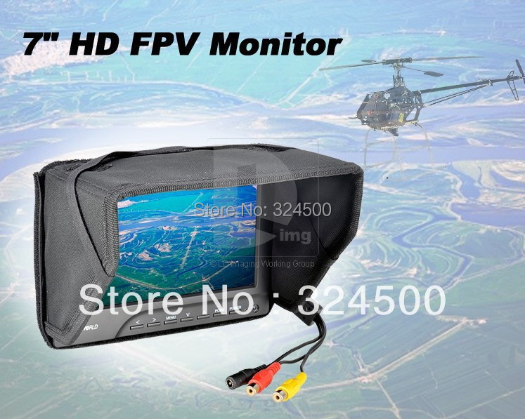 Discount Feelworld 7 HD Monitor for FPV RC Airplane Multicopter No Blue Screen with Sun Shade 7inch Remote Control Plane 7 Inch 1pcs fpv 7 inch tft led monitor hd 800x480 screen for rc model camera wholesale free shipping