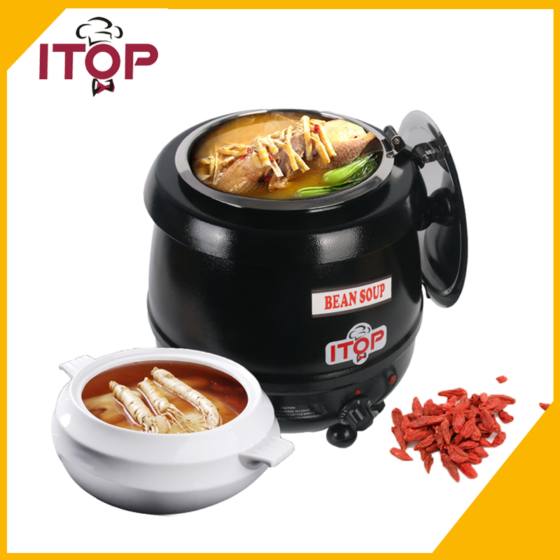 Electric Soup Kettle Warmer 110V 220V Soup Pot Soup Boiler cukyi 110v 450w multifunctional electric boiler student dormitory pot noodle electric kettle hot pot 1 2l