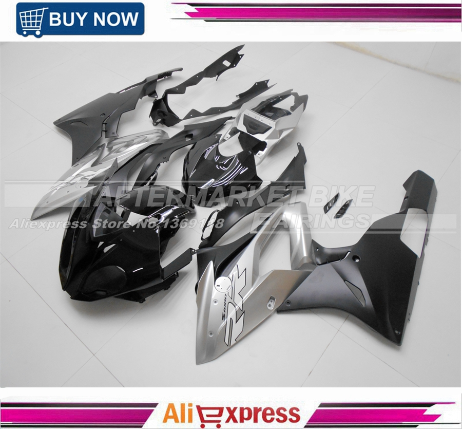 Gloss Black & Matte Silver Virgin ABS Plastic S1000RR 2015 2016 Fairing Bodywork For S1000RR 15 16 Motorcycle Fairings Kits