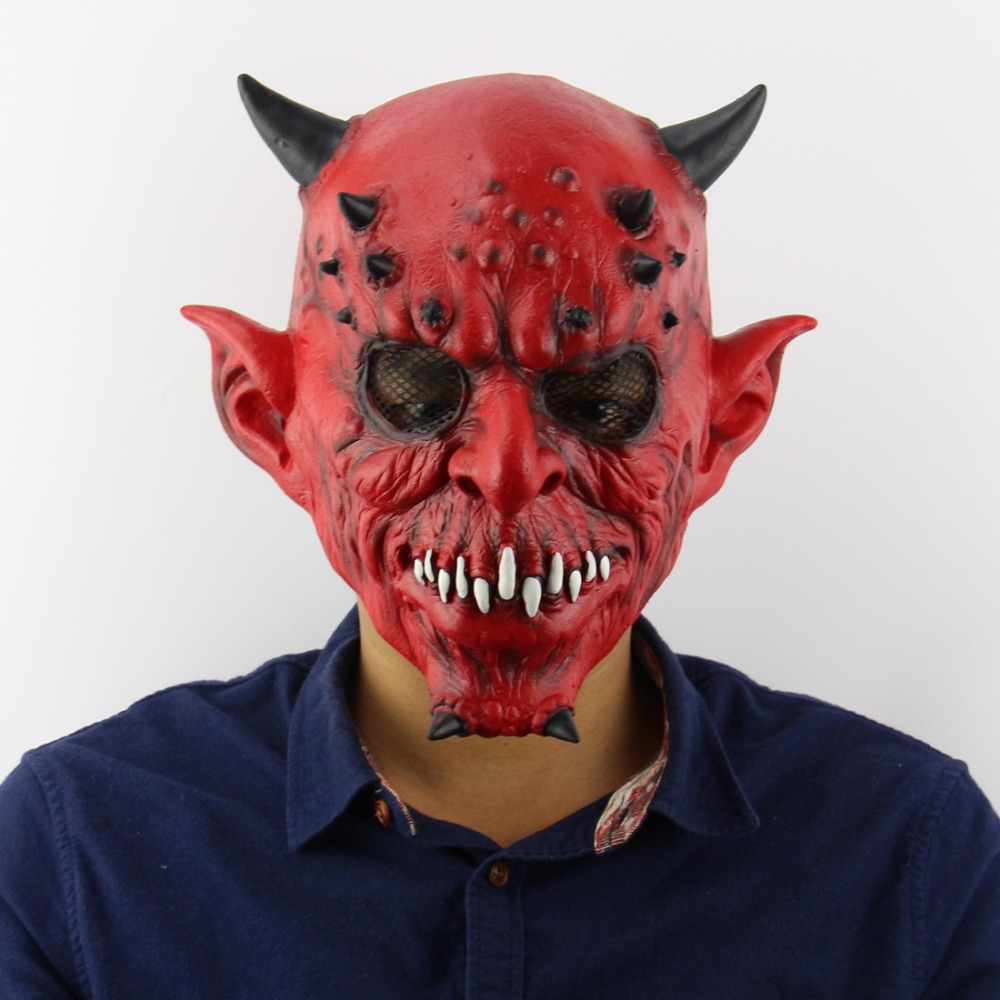 Halloween Horror Demon Yaksha Mask Scary Cosplay Masquerade Hell Devil Masks