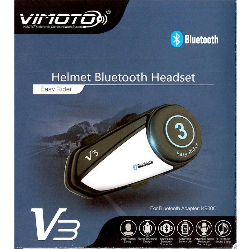 Prix pour Nouvelle Arrivée Vimoto Marque V3 Multi-fonctionnelle GPS 2 Way Radio Bluetooth Moto Casque Bluetooth Casque