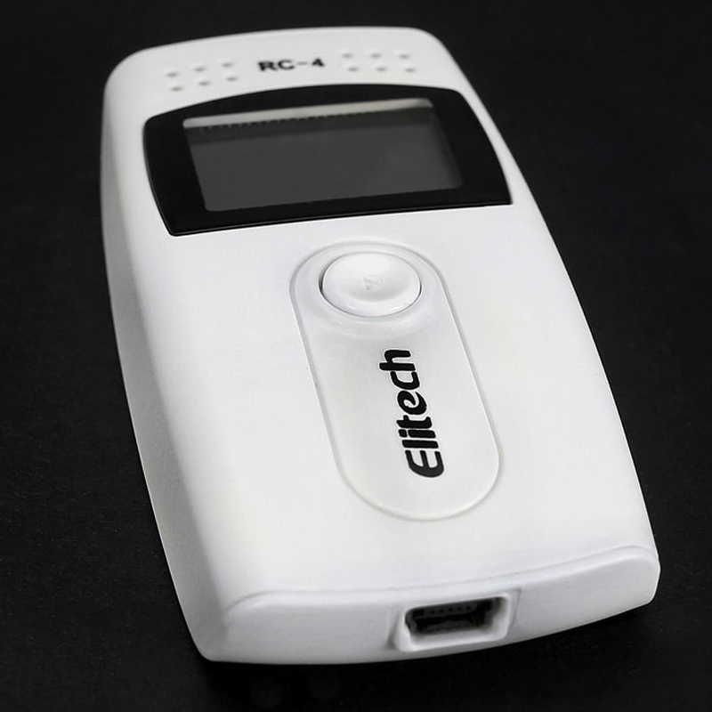 ELITECH RC-4 USB درجة الحرارة مسجل بيانات Datalogger مسجل الاستشعار الخارجي 16000 نقطة