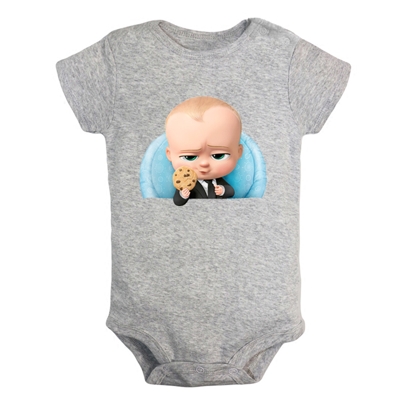 Born Leader The Boss Baby Cookies Are For Closers Newborn Baby Girl Boys Clothes Short Sleeve Romper Jumpsuit Outfits Cotton