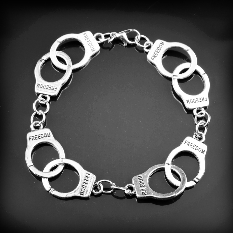 50 Fifty Shades of Grey Handcuffs Bracelets for Women Jewelry Bangles Wristbands Lover Couple Valentines Day Gift (DROP SHIP)