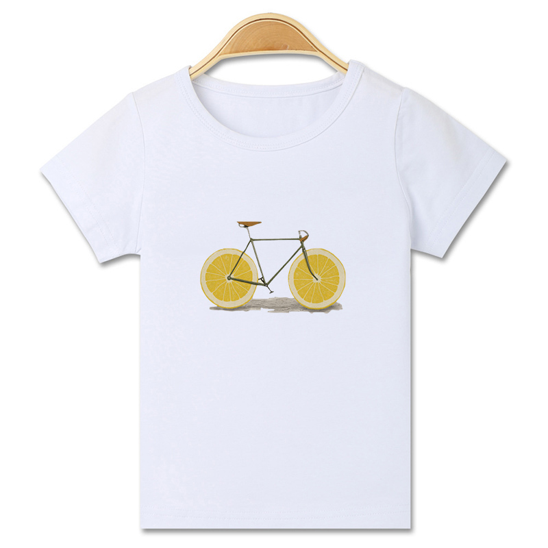 Mode casual cartoon kat paard gedrukt korte mouwen grappig t-shirt - Kinderkleding - Foto 3
