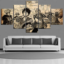 ONE PIECE Anime Canvas Painting Wall Art Home Decor For Living Room 5 Pieces On Decoration