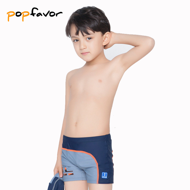 f8dad78ae1fef POPFAVOR Brand Children's Swimming Trunks with Swimming Cap Professional Boy  Sunga Swimming Shorts Boys Swimsuit Boxer Briefs