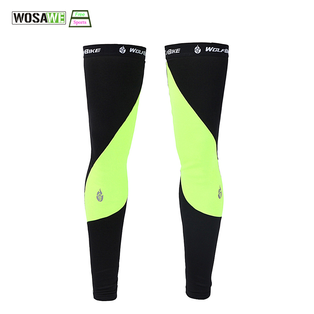 WOSAWE Mountain Bike Հեծանվավազք Ոտքի թևը ավելի տաք է MTB Ciclismo Bicycle Bicycle Leg Warmers 2 Colors