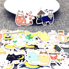 40 Pcs/Lot Mini Anime Animals Cute Self-made stickers scrapbooking For Cartoon Sticker For Laptop Fridge Skateboard(China)