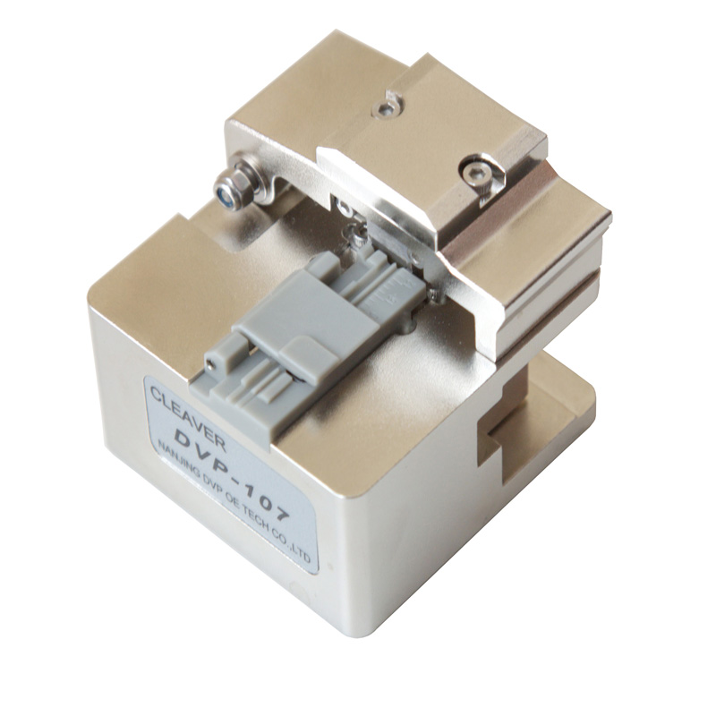 DVP107 High Precision Fiber Optic Cutter DVP 107 with Blade Life 48000 Optical Fiber Cleaver for