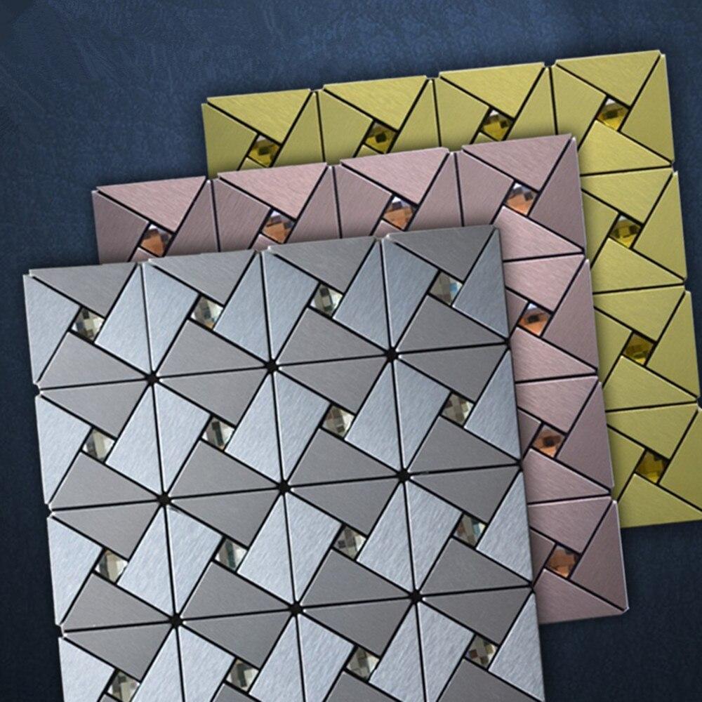 Yazi металла 3D стены Стикеры Алюминий композитный Панель обои 30x30 см толщиной стенки Плитка Настенная Home магазин стены украшения
