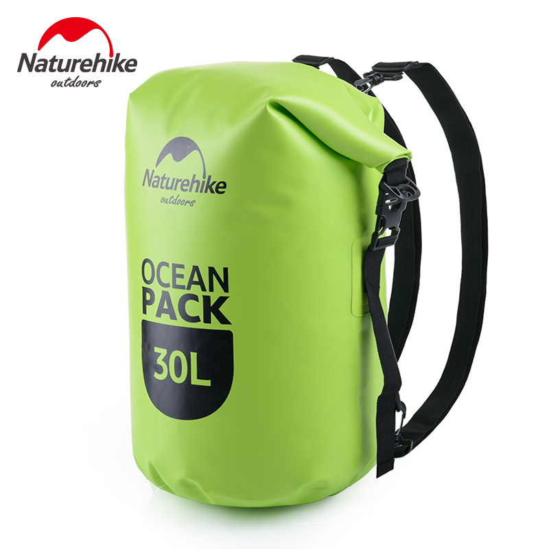 NatureHike Waterproof Backpack 20L 30L Outdoor Ultralight Camping Hiking Dry Organizers Drifting Kayaking Swimming Water bags