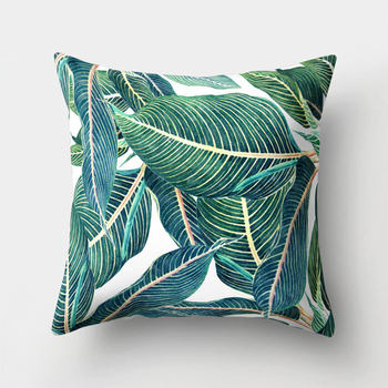 Tropical Green Gold Cushion Covers