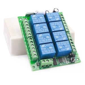 Image 5 - 433mhz sem fio universal controle remoto dc 12v 8ch rf relé receptor e 500 metros de controle remoto para controle remoto sem fio