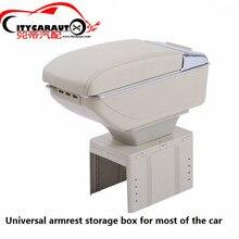 Citycarauto центральный подлокотник большое пространство + роскошные + 7 USB подлокотник ящик для хранения с подстаканником LED USB для Универсальный Fit для всех автомобилей