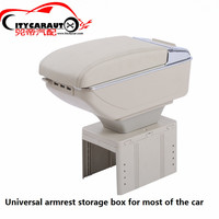 CITYCARAUTO central armrest BIG SPACE+LUXURY+7 USB armrest Storage box with cup holder LED USB FOR UNIVERSAL FIT FOR ALL OF CAR
