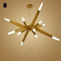 LED Wood Branch Pendant Light Fixture Contemporary Nordic Japanese Korean Hanging Lamp Lustre Design Foyer Living Room Bedroom