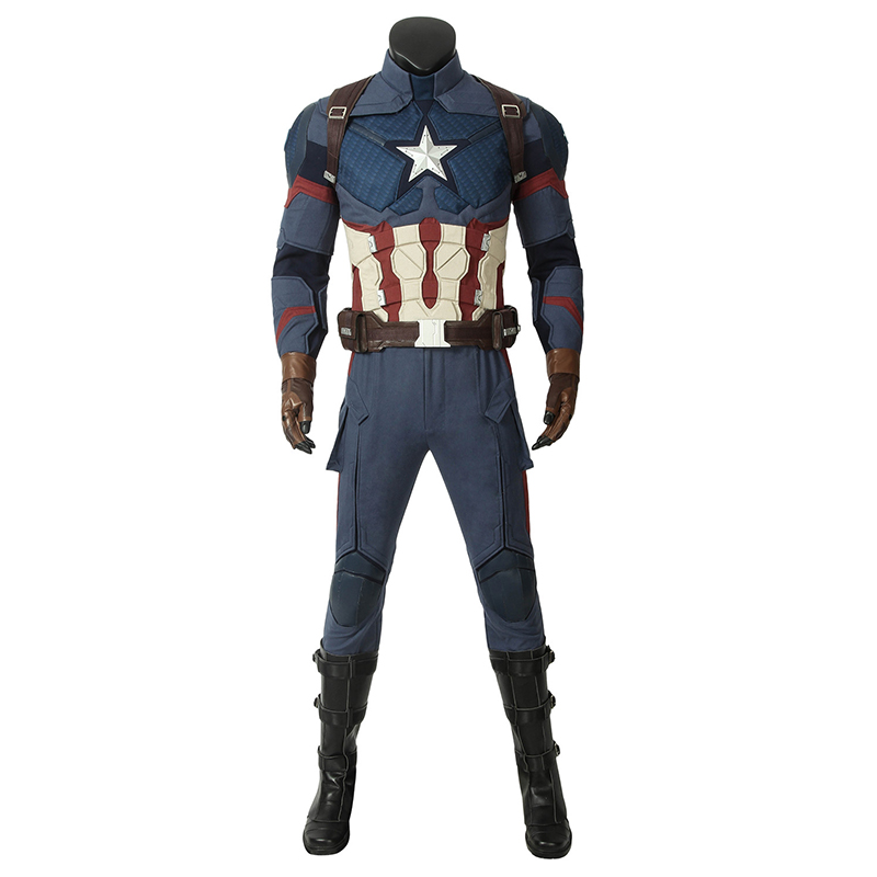Image 2 - In Stock Avengers 4 Endgame Costume Captain America Steven Rogers Cosplay Jumpsuit Superhero Adult Halloween Outfit Custom Made-in Movie & TV costumes from Novelty & Special Use